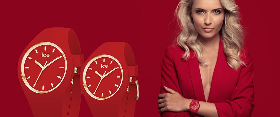 秋の装いに映える艶やかな真紅の腕時計 ICE-WATCH(アイスウォッチ)