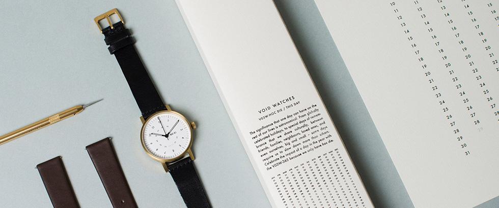 シンプルなフォルムと繊細なデザインが特徴のスウェーデン腕時計ブランド|ヴォイド(Void)
